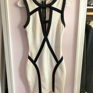 Black and white Tobi dress
